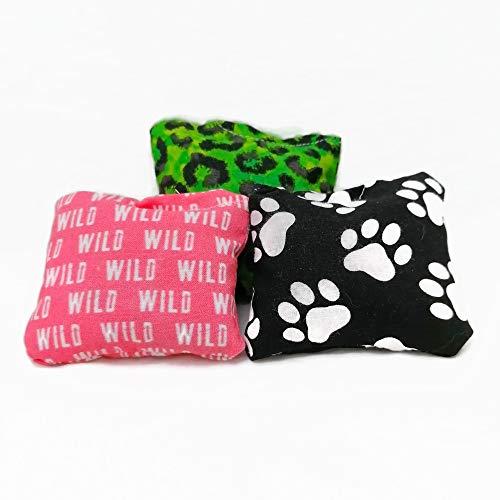 Natürliche Katzenspielzeuge - Dreierpack - Stinkekissen