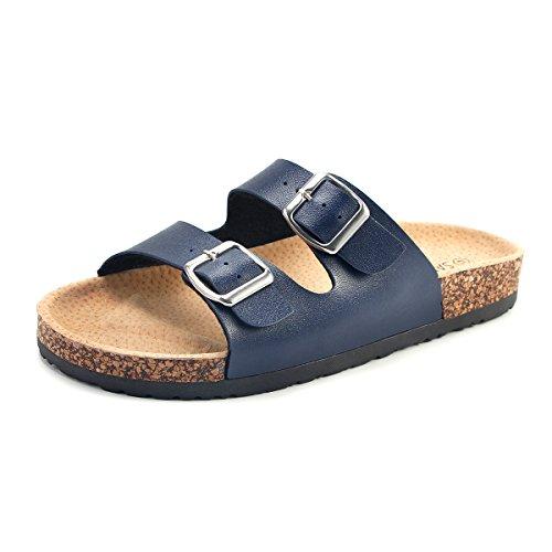 Pantoletten Sandalup Korkfußbett erwachsene Unisex Blau Mit UYYwZgqE