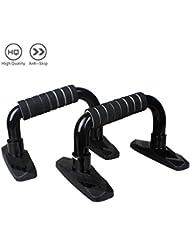 Pulchra Push Up asas, incline-press, skid-resistant, Push Up Bares Stands Grips Set de prensa, dispositivo de entrenamiento de fitness músculos entrenamiento equipo pro-black