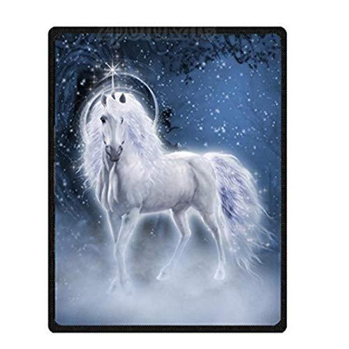 MinegRong Manta Personalizada de Terciopelo de Felpa con Unicornio único Manta súper Suave Mullida LigeraMantaacogedoraMantas de Cama para Co, como se Muestra, 100 W x 125 L cm