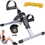 AGM Mini Exerciser Bike, Arm Leg Pedal Exerciser Fitness Cycling with LCD Monitor