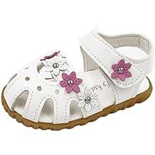 Zapatos de niña, Switchali zapatos niñas con suela verano Cuna Suela blanda Antideslizante niños Moda casual Calzado de deportes Flor plana de verano Sandalia