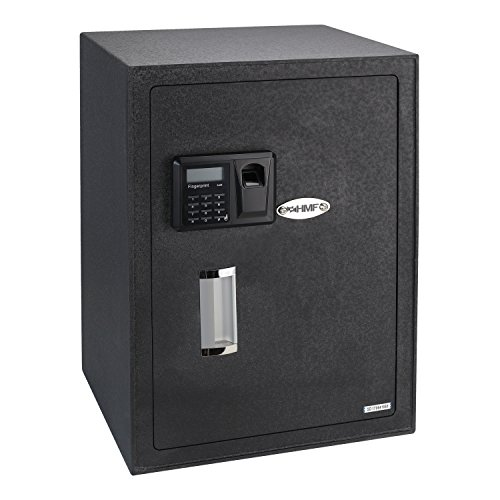 HMF 49125 Caja Fuerte Impresión Dedos Seguridad Electrónica Biométrica, 35 x 50 x 31 cm