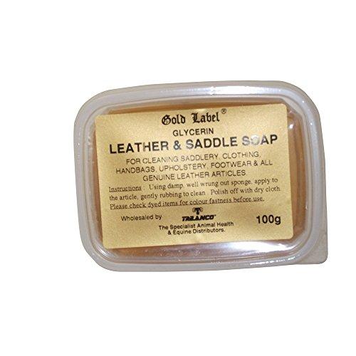 Gold Label - Jabón glicerina cuero sillas montar