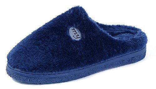 AgeeMi Shoes Unisex Pantoufles Coton Flat Anti Mixte Adulte Chaussures,EuT03 Marine 40/41