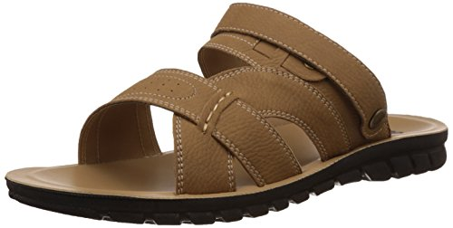 FLS (By Franco Leone) Men's Beige Flip Flops Thong Sandals - 8 UK/42 EU  available at amazon for Rs.269