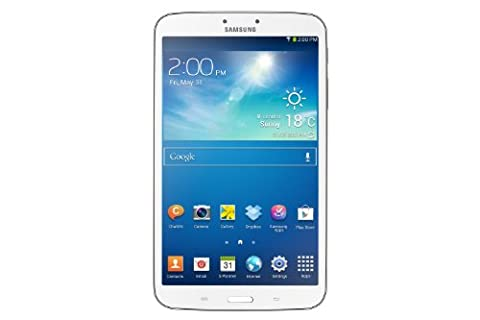 Samsung Galaxy Tab 3 20,3 cm (8 Zoll) Tablet (1,5GHz, Dual-Core, 1,5GB RAM, 16GB interner Speicher, 5 Megapixel Kamera, WiFi, Android 4.2) weiß