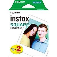 Fujifilm Instax Square Film Pellicola Istantanea, Formato Quadrato, 62x62 mm, Confezione da 20 Foto, Bordo Bianco
