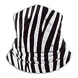 YudoHong Animal Zebra Nackenwärmer Ultraweicher Polyester Nackenwärmer Atmungsaktiv & Winddicht Gesichtsmaske Unisex UV Schützen Ski Nacken Er