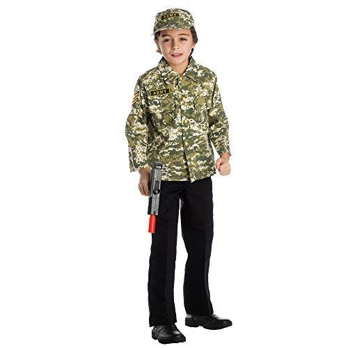 Dress Up America Kinder Armee Authentic Military Forces Rollenspiel Set Kostüm Alter 3-6