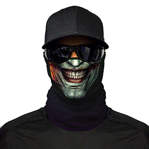 Threadwear nuovo stampato fronte warmer sciarpa scaldacollo maschera biker ski balaclava snood bandana. joker smile 23 taglia unica