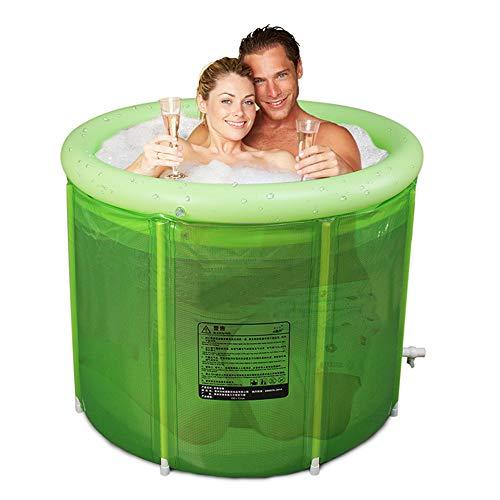 Doppelte erwachsene faltende BADEKURORT-Badewanne, aufblasbare Plastikbadewanne, Haushaltsbadewanne, Qualität tief eintauchender Wannen-Eimer mit Abfluss, Kinder-rutschfester Swimmingpool-Transparent