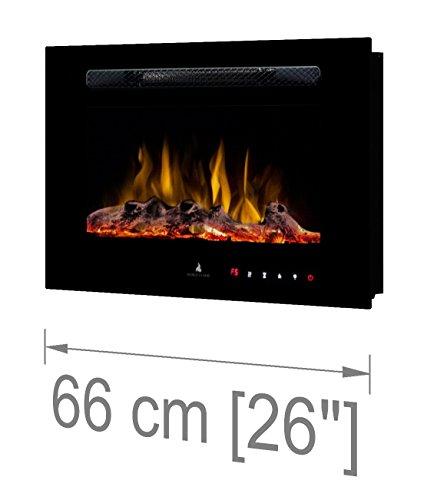 Noble Flame París 660 [Chimenea eléctrica Empotrada Pared / Montado en la...