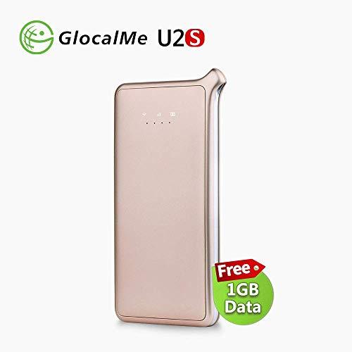 GlocalMe 4G Mobiler WiFi Hotspot Router, Keine SIM-Karte Kostenloses Roaming-Netzwerk in über 100 Ländern mit 1 GB anfänglichen globalen Daten (U2S-Gold)