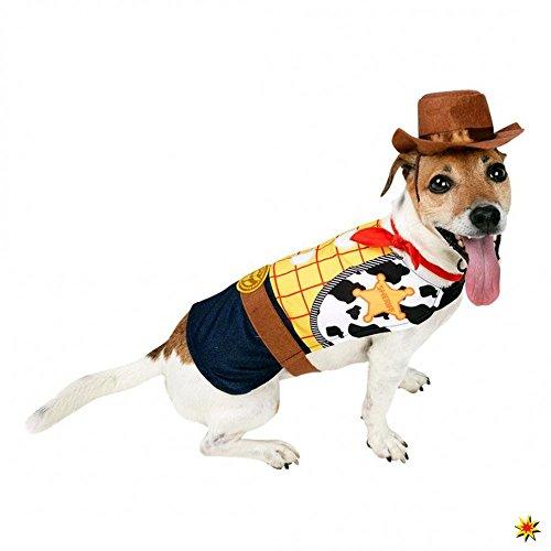 Hundekostüm Cowboy Woody XS, S, M Kostüm für Hunde Tierkostüm (XS)