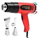 ETEPON Pistolet à Air Chaud-1800W, 50-500 ℃,Décapeur Thermique à Température Réglable 220V HG6618 (HG6618)