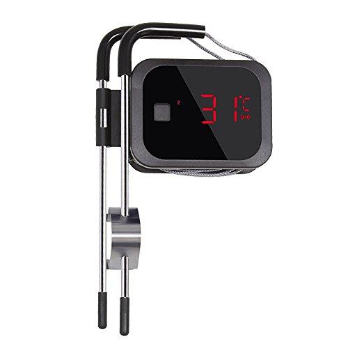 Inkbird BBQ IBT-2X Bluetooth Barbecue Fleischthermometer Bratenthermometer Fleisch Smoker Thermometer Timer mit Temperaturalarm,App für Android 4.4 + top & iOS 7 -