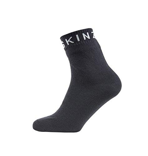 SealSkinz 11100030010140 Unisex Socken Erwachsene, Schwarz/Grau, FR: XL (Größe Hersteller: XL)
