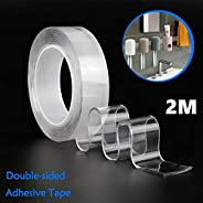 Torix 2 Meter Magic Improvement Double Sided Tape mounting Transparent Trace less Acrylic Reuse washable Water