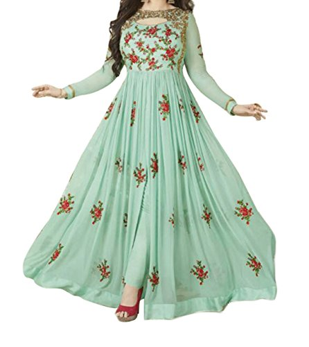 Ethnic Yard Stylish Designer Embroidered Gerorgette Bollywood Anarkali Gown
