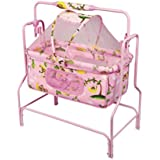 Baby Craddle With High Standard Quality 1 NET Bed / 1 Pillow With Mosquito Net Canopy Colours Pink And Blue Foam Mattress Used For Baby Comfort
