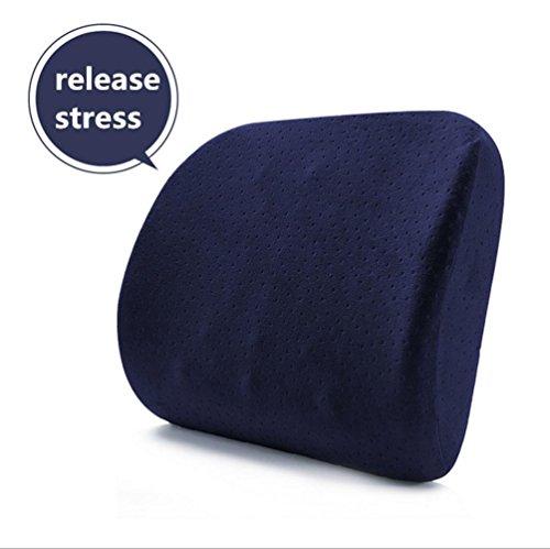 Fymg® auto cuscini ufficio cotone memoria rimbalzo lento pelle mesh lombare vita ammortizzatori cushions45 * 38 * 10cm , 45*38*10cm