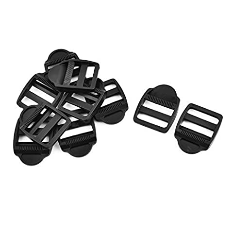 DealMux Plastic Climbing Verstellbare Rucksack-Beutel-Bügel-Keeper Ladder Lock-Verschluss Schnalle 10pcs