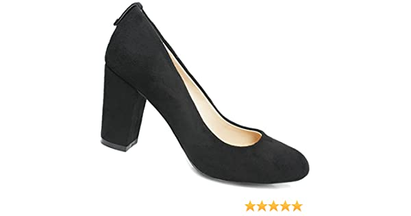 572c380e6c9f Womens black court shoes ladies mid heels office work formal school  shoes Black Suede 3  Amazon.co.uk  Shoes   Bags
