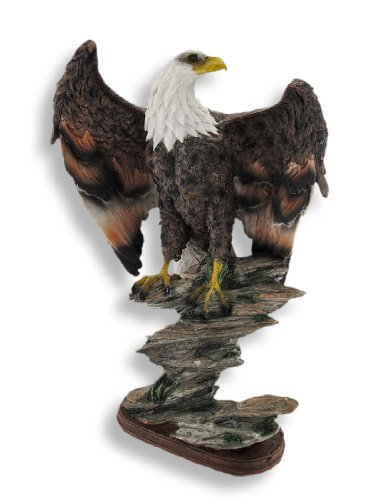 Majestic Bald Eagle on Rocks Sculpture