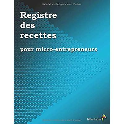 Registre des recettes pour micro-entrepreneurs