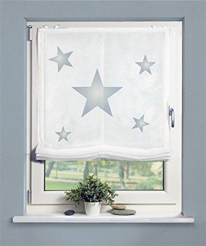 Raffrollo Stars blau 60x140 cm