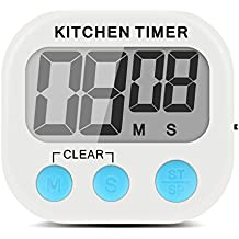 Xcellent Global Temporizador de Cocina Electrónico Digital con Display Extra Grande, Alarma, Base magnética y Gancho del soporte retráctil HG108