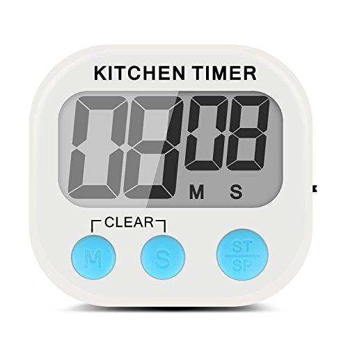 Xcellent Global Temporizador de Cocina Electrónico Digital con Display Extra Grande, Alarma,...