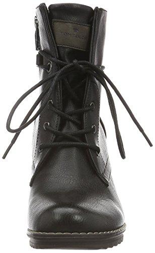 Tom Tailor - 1690403, Stivali bassi non imbottiti Donna Nero (Nero (nero))