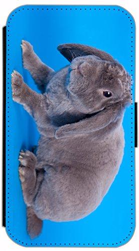 Flip Cover für Apple iPhone 4 / 4s Design 477 Pferd Hengst Weiß Wiese Grün Weiß Blau Hülle aus Kunst-Leder Handytasche Etui Schutzhülle Case Wallet Buchflip (477) 487