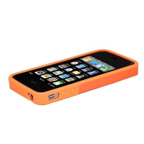Hard Candy Cases bc4s Schutzhülle für iPhone 4S (Hard Orange Candy)