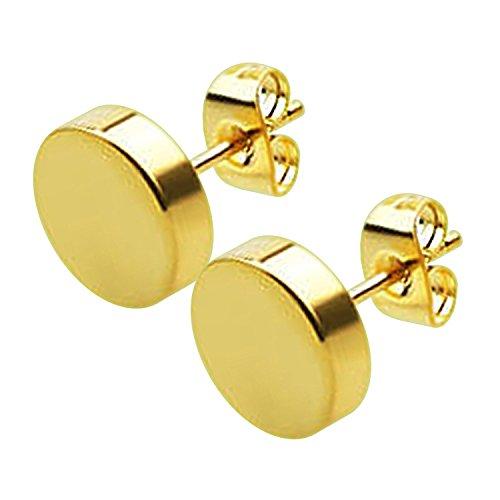 Schmuck Ohrring Scheibe Dick Veredelung Spiegel Eloxiert Golden VotrePiercing - Einzigartige x 8 mm -