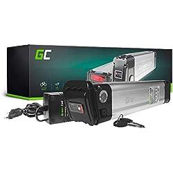 GC® EBIKE Batería 36V 14.5Ah Pedelec Silverfish Li-Ion con Celdas Panasonic y Cargador Curtis Vita Lbike Rikonda Ghost Megamo Pig