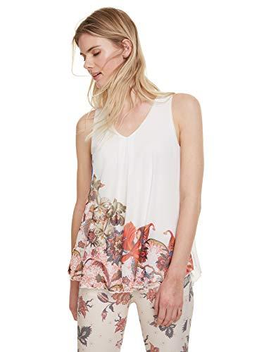 Desigual Damen Scarlett T-Shirt, Weiß (Blanco 1000), Large (Herstellergröße: L)