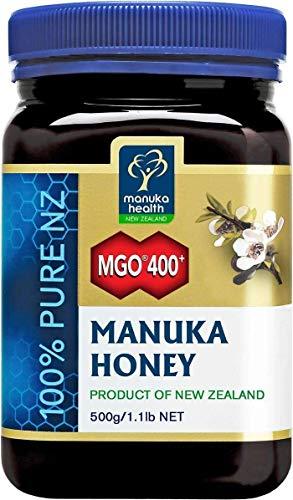 Manuka Health - Manuka Honig MGO 400 + 500g - 100{0c8cf159978a23b4619fb533d5a4b9d7c0f3066bd772f6e1d4710b9735ecb4a2} Pur aus Neuseeland mit zertifiziertem Methylglyoxal Gehalt