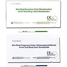 One Step - 30 Pruebas de Ovulación 20 mIU/ml y 5 Tests de Embarazo 10mIU/ml - Nuevo Formato Económico de 2,5 mm.