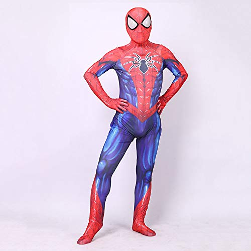 ASJUNQ Spider-Man Cosplay Spielt Kleidung Lycra Stretch Digitaldruck Strumpfhose Halloween Strumpfhose Thema Party ()