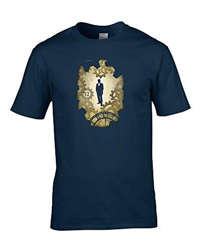 FatCuckoo der Zwölfte Doctor- Sci Fi Serie Inspiriert Herren T-Shirt von Gr. Medium, Navy (Dr Valentines Who Geschenke)