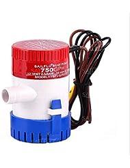 Pompe de cale 350/500/750/1100GPH 12V Plastique submersible de cale pompes à eau, 750GPH