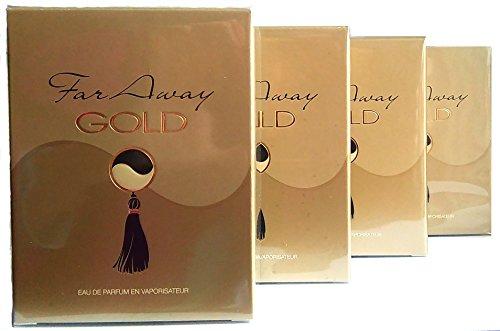 4 x Avon Far Away Gold Eau de Parfum Für Damen 50ml