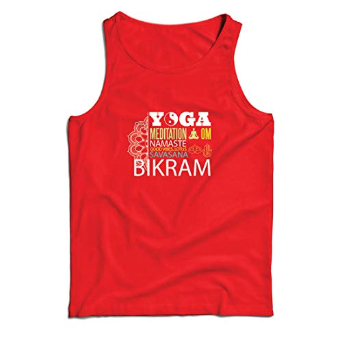 lepni.me Weste Yoga Meditation Om Good Vibes Lotus Savasana Bikram (XX-Large Rot Mehrfarben) (Ideen Crossfit Halloween)
