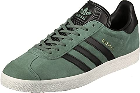 Adidas Gazelle, Chaussures de Running Homme, Multicolore (Trace Green S17/Core Black/Gold Met.), 40 2/3 EU