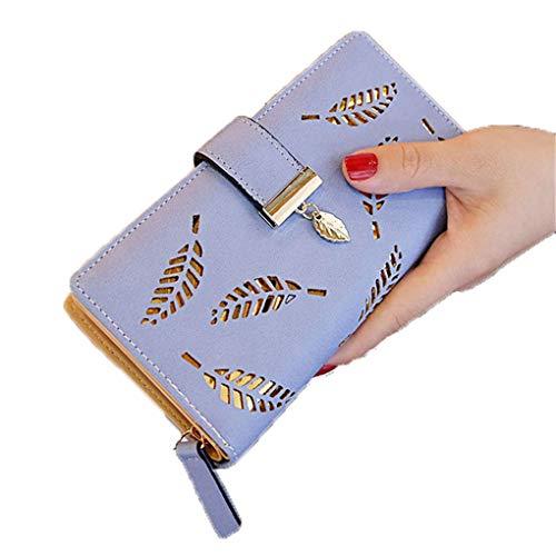 Brieftasche Weiche PU Leder Damen Clutch Brieftasche Weibliche Münze Karte Geldbörse A Blue ()