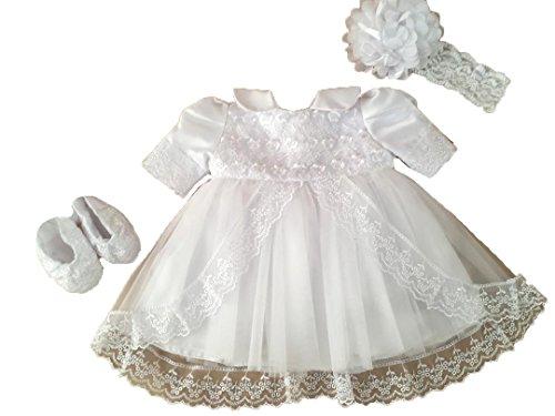 Edel Taufkleid Festkleid Sommer Kleid Set 4 Teilig 68