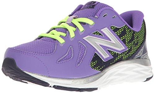 New Balance - - Grade School Minimus 20v4 Trainer Schuhe, 28.5 EUR - Width W, Purple/Lime Glo